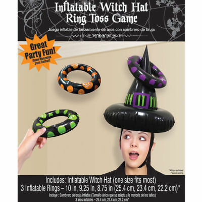 👻HALLOWEEN WITCH HAT RING TOSS GAME👻Inflatable Party Home Family Fun👻Children