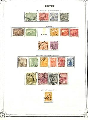 [OP3131] Egypt lot of stamps on 12 pages - see photos in description