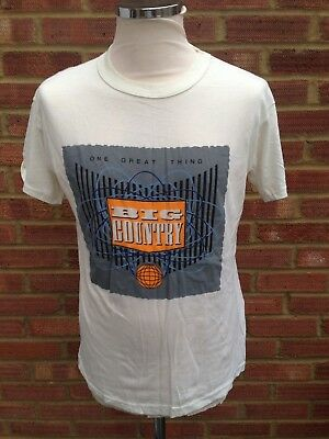 Big Country TShirt 1986 One Great Thing Tour Merchandise Mark Brzezicki 40""