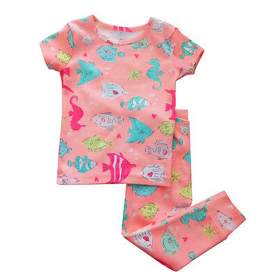 !Clearance! Girl Cater's Pyjamas Sleepwear Little Fish PJs Size 24months - 4T