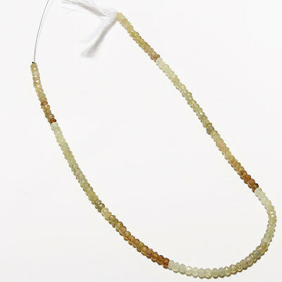 "Faceted Grossular Garnet Gemstone Beads Micro Shape 13"" Strand Length"