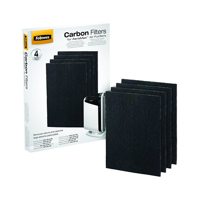 Fellowes 9324201 Pack de 4 Filtres à Charbon pour Purificateur d'Air DX95