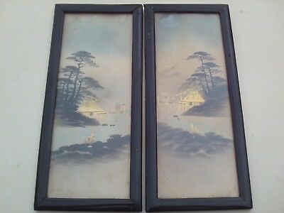 Antique Japanese gold paintings