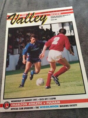 CHARLTON ATHLETIC v FULHAM LEAGUE CUP 1991-1992