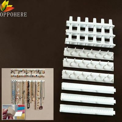 Jewelry Display Hanging Plastic Earring Necklace Hanger Rack Holder Sticky Hook