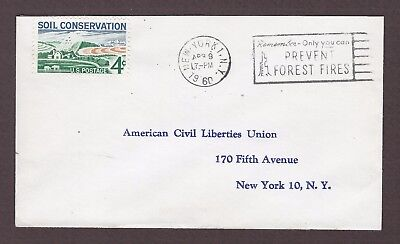mjstampshobby 1960 US Prevent Forest Fires Cover Used (Lot4984)