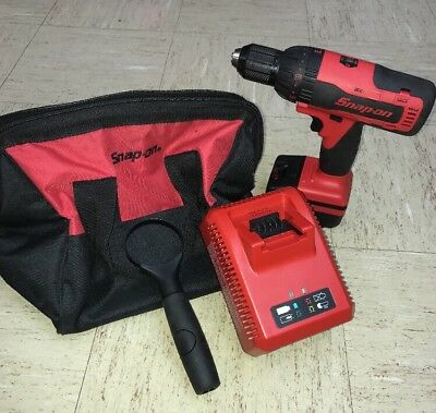"Snap On 18V Lithium Cordless 1/2"" Hammer Drill Kit CDR8850H w/soft case"