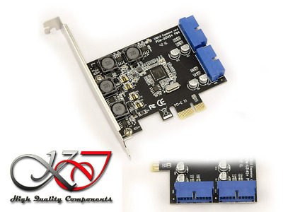 KALEA-INFORMATIQUE © - Carte Controleur PCI EXPRESS (PCI-E) vers USB 3.0 - 2 POR