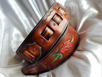 Gorgeous hand-made hand-carved leather guitar strap. Great price!!