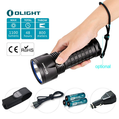 Olight® SR52-UT Intimidator Kit, Lampe Torche Rechargeable Ultra Puissante, 1100