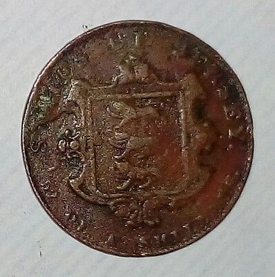 Excellent English Queen Victoria States of Jersey 1840 , 52 of a Shilling