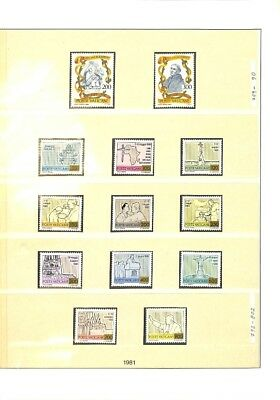 [OP3302] Vatican lot of VF MNH stamps on 12 pages - see photos in description