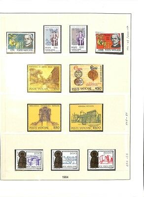 [OP3303] Vatican lot of VF MNH stamps on 11 pages - see photos in description