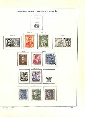 [OP3328] Spain lot of stamps on 12 pages - see photos in description