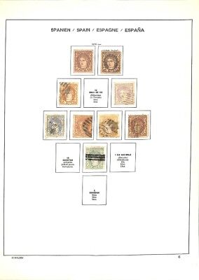 [OP3329] Spain lot of stamps on 12 pages - see photos in description