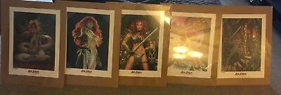 lot of 5 Red Sonja lithographs posters mint