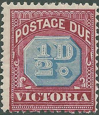 VICTORIA 1890-94 POSTAGE DUES 1/2d Blue & Red ACSC D1 cv$15 Lightly hinged mint