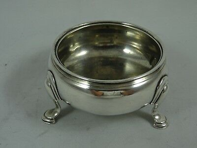 GEORGE II solid silver `COULDRON` style SALT, 1758, 42gm