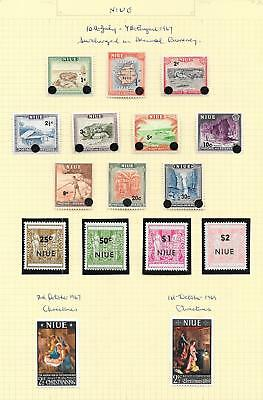 Niue 1967 Collection of 16 stamps ATTRACTIVE Lot!