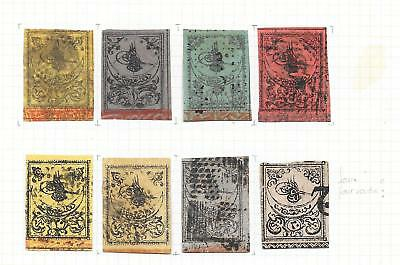 Turkey stamps 1863 Collection of 8 CLASSIC stamps HIGH VALUE!