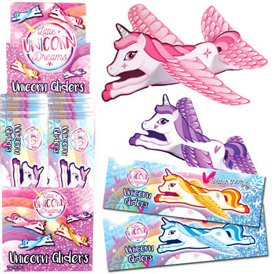 Unicorn Flying Gliders Girls Toy Prizes Loot Pinata Birthday Party Bag Fillers