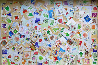 B53 Japan 2014-16, kiloware 500pcs used small size stamps on paper