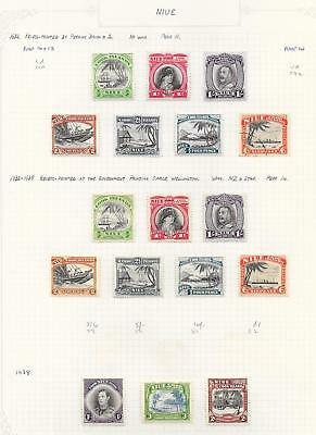 Niue 1932 Collection of 17 stamps ATTRACTIVE Lot!