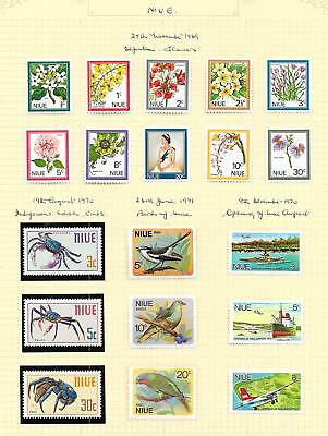 Niue 1969 Collection of 19 stamps ATTRACTIVE Lot!