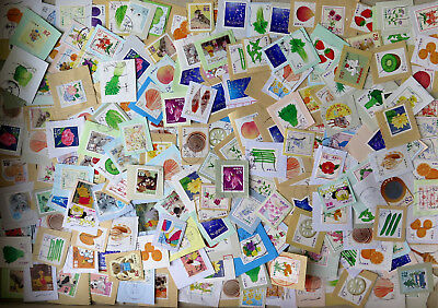 B56 Japan 2014-16, kiloware 500pcs used small size stamps on paper