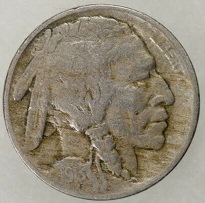 1913 5c Buffalo Nickel Type 1 VF