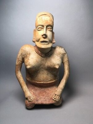 Large Terra-Cotta Jalisco Pre Columbian Figure