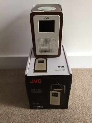 JVC DAB Radio with wooden cabinet and colour display RA-D57