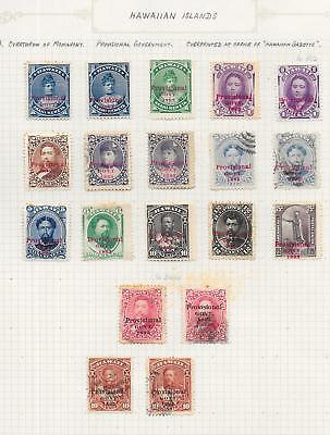 Hawaii stamps 1893 Collection of 19 CLASSIC stamps HIGH VALUE!