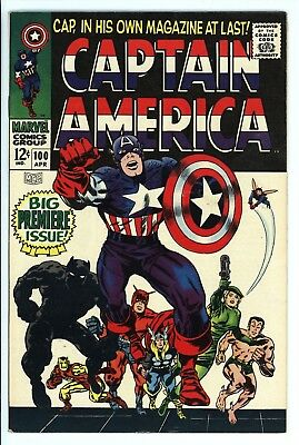 Captain America #100 Vol 1 High Grade Black Panther Appearance