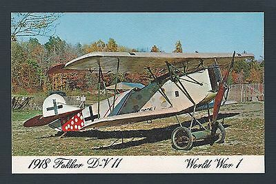 mjstampshobby US Post Card From Ackerson -1918 Fokker DV11-VF Cond RARE (Lot2034