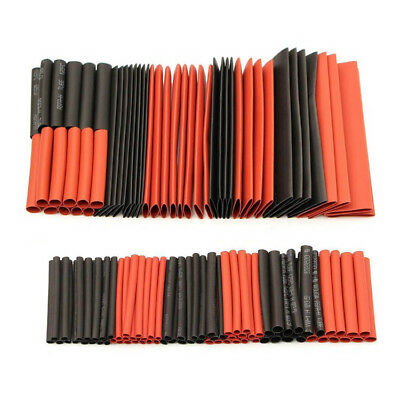 127x 2:1 Heat Shrink Tubing Wire Cable Sleeving Wrap Electrical Connection W3U4