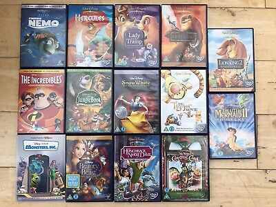 Disney DVD bundle, include classic titles - Finding Nemo, Monsters Inc etc