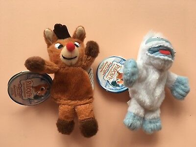 NWT lot of 2 Starbucks Rudolph the Red-Nosed Reindeer & Bumble finger puppets