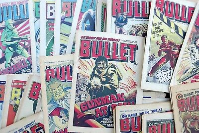BULLET comics bundle job lot 1976 1977 1978  Fifty issues vintage