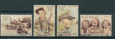 Norfolk Island 1995 MNH WWII VJ VP Victory Pacific Day 50th Anniv 4v Set Stamps