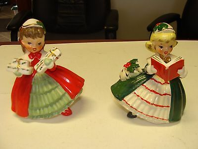 VINTAGE NAPCO CHRISTMAS FIGURINES set of 2