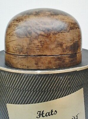 Lovely Vintage Wooden Hat Crown Block/Form, Millinery Display.