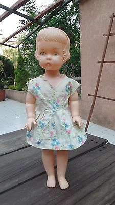 "VTG 1960's RARE MEXICAN BOOTLEG JUMBO 18"" DOLL BLOWN PLASTIC WITH CLOTHES MEXICO"