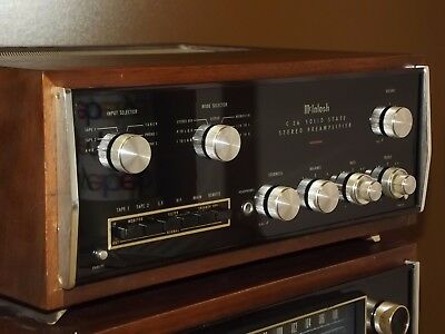 McIntosh C26 Stereo Preamplifier Preamp with original wood cabinet