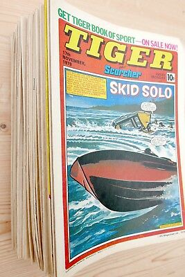 TIGER and Scorcher Comics 1979 - 47 issues, Almost full year