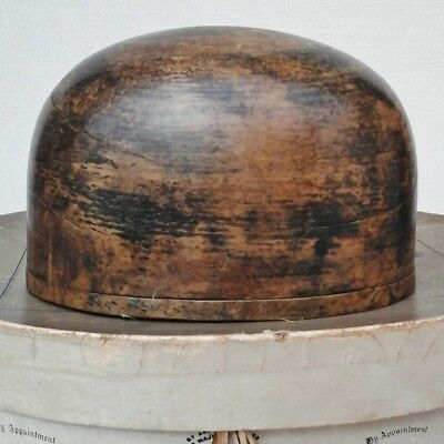 Vintage French Wooden Hat Crown Block/Form, Millinery Display.