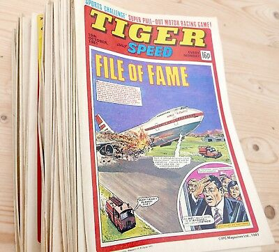 TIGER and SCORCHER comics  1981  42 Issues