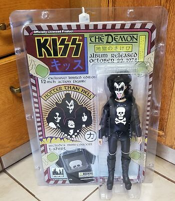 "12"" KISS Mego Retro Gene Simmons Hotter Than Hell Doll"