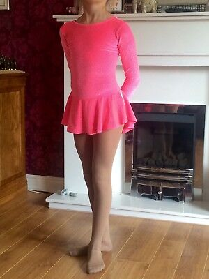 MONDOR Pink girls' ice skating dress. Excellent condition. (Aged 8-10)