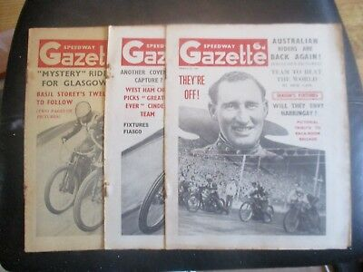 1949 Collection (4) Of 3  Of The  Speedway Gazette  Magazine